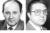 Vlevo někdejší šéf krajské správy SNB v Ostravě a krátkou dobu také federální ministr vnitra František Kincl. Posledním šéfem československé StB byl generál Alojz Lorenc (na snímku vpravo).