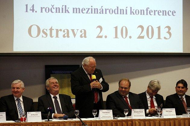 Prezident Zeman při zahájení ostravské mezinárodní konference Investment & business forum.