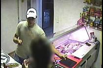 Snímek zloděje zachycený kamerou