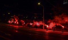 Fanoušci Baníku se v pátek večer na Kamenci sešli, aby oslavili 95. výročí svého klubu.
