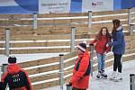 Olympijský festival u Ostravar Arény, 9. února 2018 v Ostravě. Bruslení