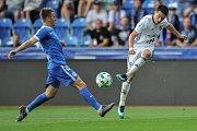 Utkání 28. kolo první fotbalové ligy FC Baník Ostrava - FC Sloban Liberec, 12. května v Ostravě. (vlevo) Havelka Filip a Hrubý Robert.