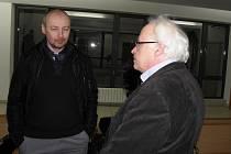 Radek Matlach (vlevo) a Igor Fargaš během jednání u okresního soudu.