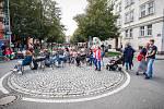 Sousedské slavnosti v centru Ostravy na ulici 30. dubna.