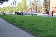 Derby Sigma vs. Baník táhne. Snímky z předchozího derby na Andrově stadionu a odjezd (příjezd) fanoušků Baníku do Olomouce.
