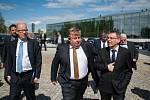Předseda vlády Bohuslav Sobotka na návštěvě Ostravy.