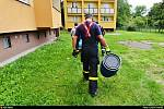 Hasiči v Ostravě chytali leguána.