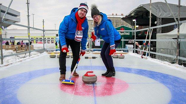 Curling na Olympijském festivalu v Ostravě