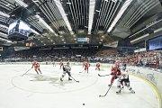 Čtvrtfinále play off hokejové extraligy - 4. zápas: HC Vítkovice Ridera - HC Oceláři Třinec, 25. března 2019 v Ostravě. Radoslav Tybor.