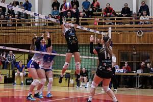 Utkání 16. kola UNIQA volejbalové extraligy žen: Ostrava - Frýdek-Místek, 17. ledna 2019 v Ostravě.