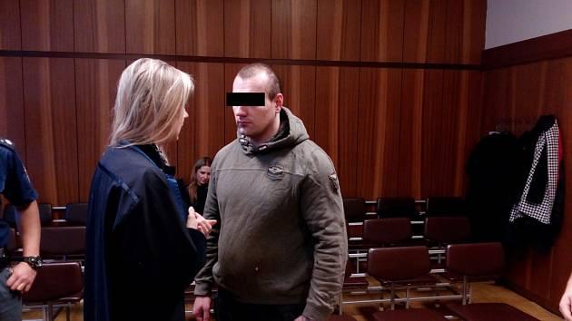 Muž desetiletý trest za přepadení taxikáře a útok na policistu na místě přijal.