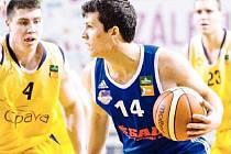 Basketbalista NH Ostrava Daniel Klímek.