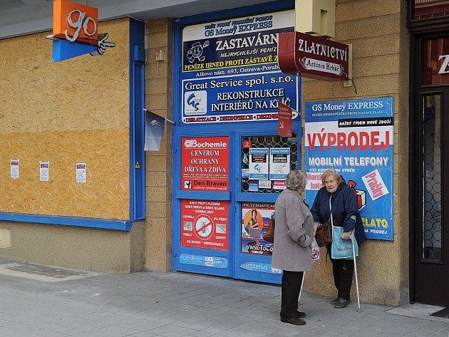 Zastavárnu v Ostravě-Porubě