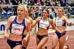 Mezinárodní halový atletický mítink Czech Indoor Gala 2020, 5. února 2020 v Ostravě. Střed běh 400m ženy Daniela Ledecká ze Slovenska.