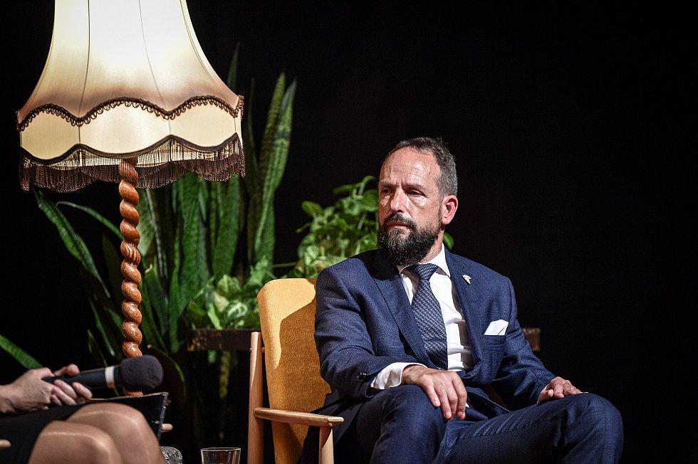 Tisková konference k novému koncertnímu sálu, 3. srpna 2020 v Ostravě. Primátor města Ostrava Tomáš Macura.