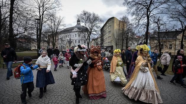 Masopustní průvod, 5. března 2019 v Ostravě.