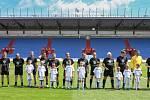 Přátelské fotbalového utkání mezi legendami Vítkovic a Sigi týmem 25.května 2019 v Ostravě.