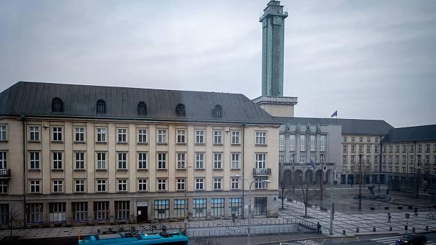 Nová radnice, Prokešovo náměstí v Ostravě. Ilustrační foto, 9. ledna 2020.