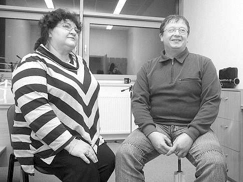 Miloslava Soukupová, ředitelka Lidové konzervatoře a múzické školy vOstravě a Mikuláš Ďurko, někdejší učitel Martina Chodúra.