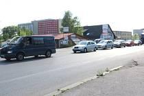 Výstavba nové okružní křižovatky ulic Těšínská, Anglická a U Závor v Havířově-Šumbarku.