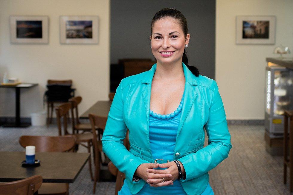 Politička Zuzana Klusová (Piráti) při rozhovoru pro Deník, srpen 2020.