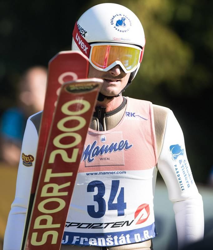 Memoriál Jiřího Rašky (letní Kontinentální pohár) první závod (O pohár starostky Frenštátu). Na snímku Jakub Janda.