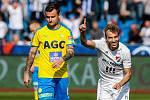 Utkání 27. kola první fotbalové ligy: FC Baník Ostrava - FK Teplice, 7. dubna 2019 v Ostravě. Na snímku (zleva) Martin Jindráček, Kuzmanovič Nemanja.
