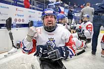 Mistrovství světa v parahokeji, o 5. místo: Norsko - Česká republika, 25. června 2021 v Ostravě. Jan Krupička.