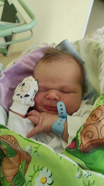 Teodor Marek, Paskov, narozen 6. dubna 2021, míra 53 cm, váha 3900 g Foto: Jana Březinová