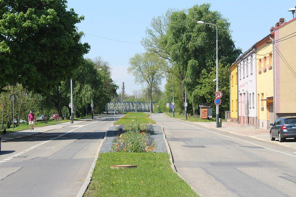 Lokalita U Boříka se stejnojmennou ulicí a hostincem.