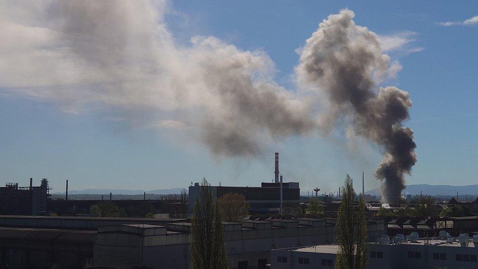 Požár SPV RECYCLING v Ostravě