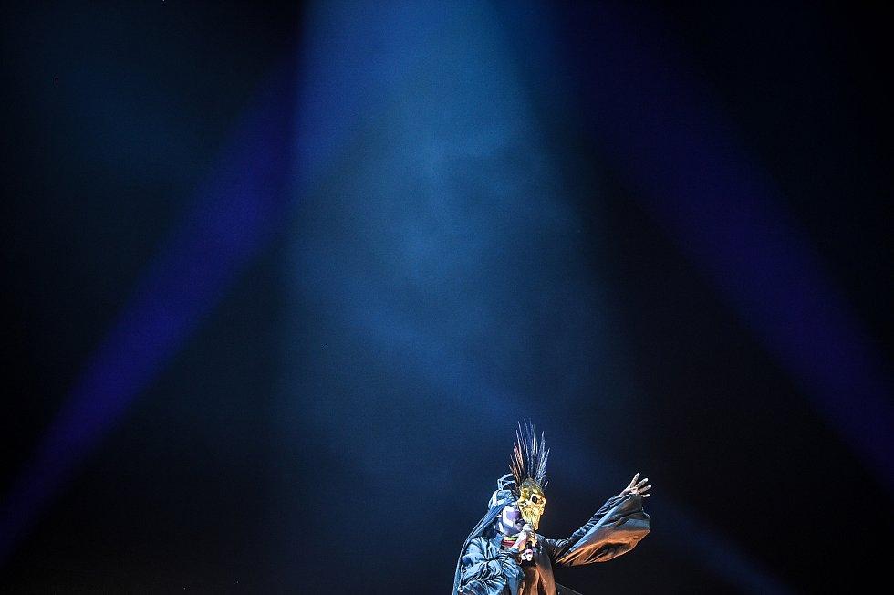 Hudební festival Colours of Ostrava 2018 v Dolní oblasti Vítkovice, 21. července 2018 v Ostravě. Na snímku zpěvačka Grace Jones.