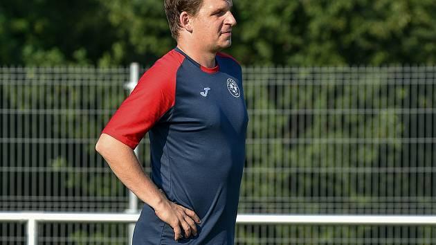 Trenér Hlubiny Jan Woznica.