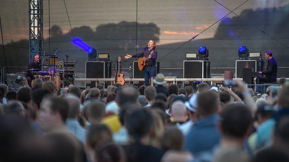 Štěrkovna Open Music 2018, 24. července 2018 v Hlučíně. Na snímku Jaromír Nohavica.