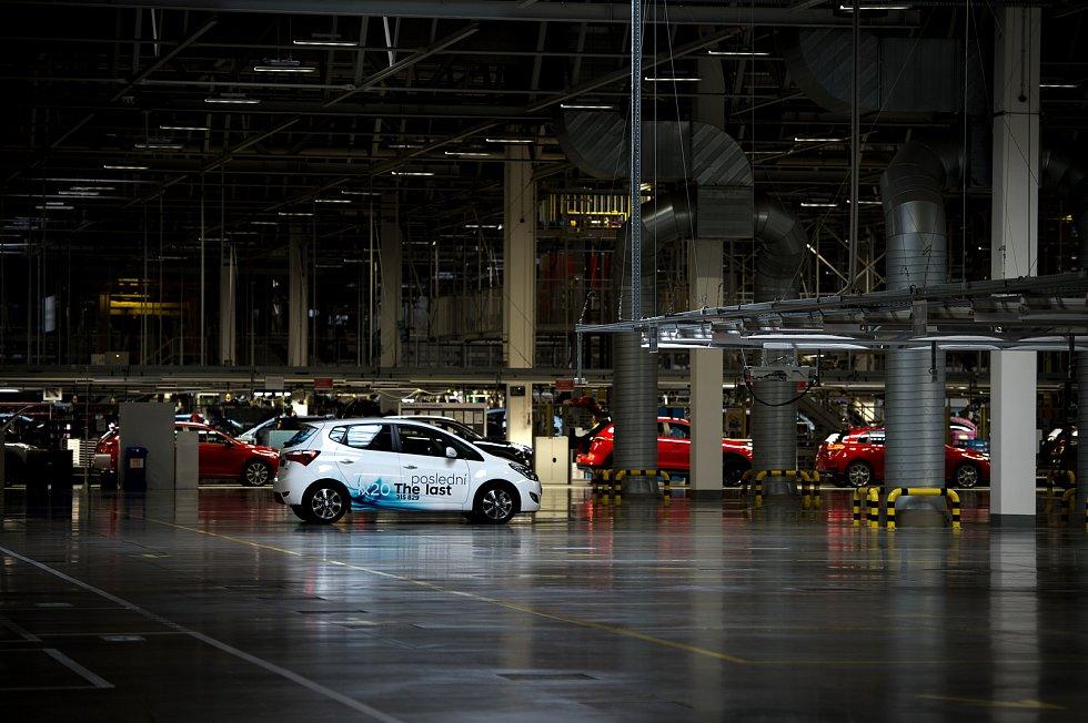 Z výrobní linky v nošovické továrně Hyundai sjel 30. května 2019 poslední automobil Hyundai ix20.