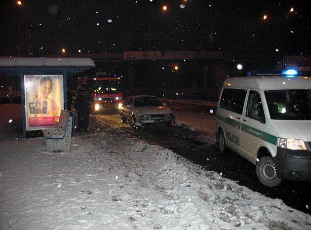 Záběr z policejního zásahu v Ostravě