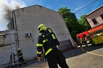 Požár kanceláří ve Vítkovicích.
