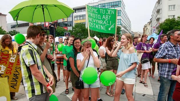 Třetí ročník happeningu Jsme Ostravská! se konal 27. června na Masarykově náměstí v centru města.