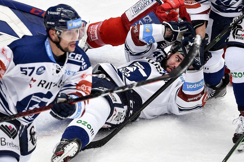Utkání 3. kola hokejové extraligy: HC Oceláři Třinec - HC Vítkovice Ridera, 15. prosince 2020 v Třinci. Roman Polák z Vítkovic.