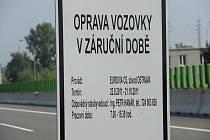 Opravy zvlněné dálnice si vyžádaly uzavření celého jednoho profilu ostravské části dálnice D1 v úseku od křížení s Rudnou až po nájezd na Prodlouženou Místeckou.