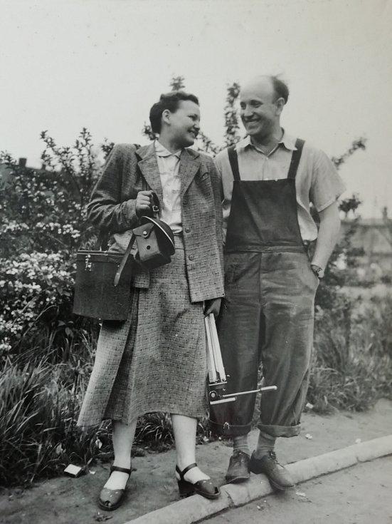 Květoslava Blahutová s kolegou.