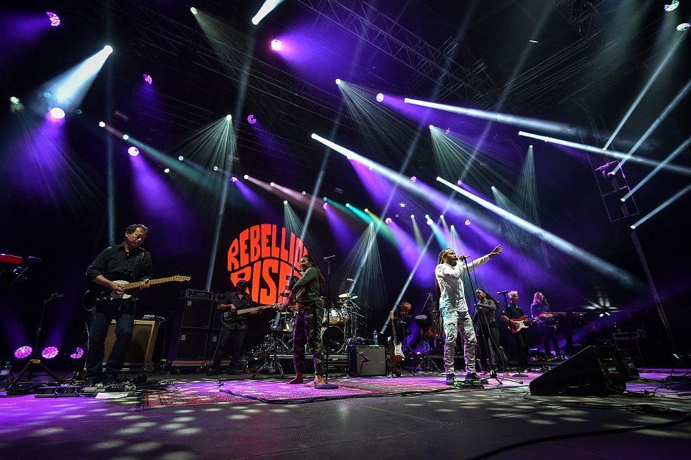 Hudební festival Colours of Ostrava 2018 v Dolní oblasti Vítkovice, 21. července 2018 v Ostravě. Na snímku zpěvačka Ziggy Marley.