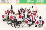 Mistrovství světa v para hokeji 2019, Korea - Česká republika (zápas o 3. místo), 4. května 2019 v Ostravě. Na snímku tým Česka.