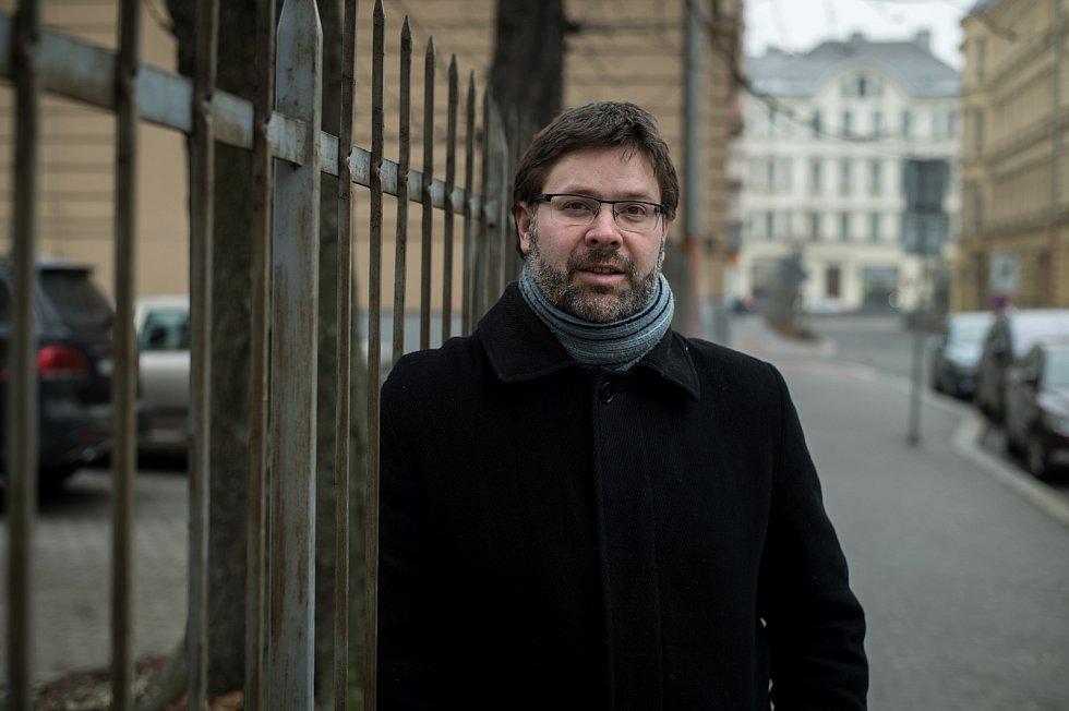 Marek Síbrt (tiskový mluvčí SMVAK) při fotografování pro Deník, leden 2019 v Ostravě.