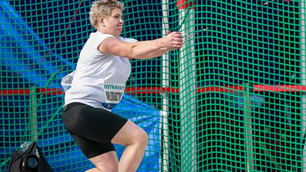 Zlatá tretra Ostrava 2018. Hammer throw, kladivo ženy, Anita Wlodarczyk