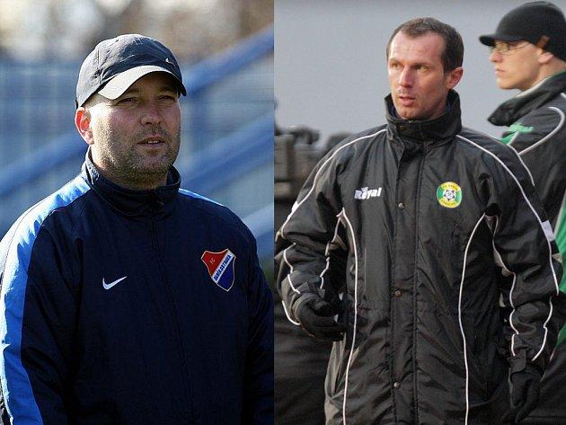 Trenéři Pavel Malura (na snímku vlevo) a Radek Látal.