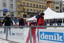 Umělé kluzistě v centru Ostravy. Ilustrační foto.