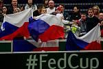 Fed Cup v Ostravě, 12. únor 2017.