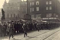 Německá vojska předvedla na Hlavním ostravském náměstí 15. března triumfální pochod na oslavu obsazení Moravské Ostravy.