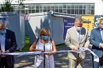 Slavnostní otevření covid centra ve Fakultní nemocnici Ostrava. Zleva Jiří Havrlant, Pavla Svrčinová, Ivo Vondrák a Zbyněk Pražák, 12. srpna 2020.